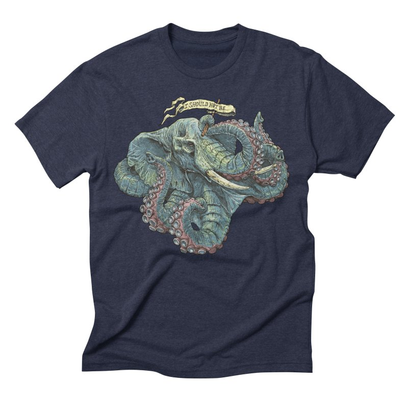 Metra Octophant  Men's Triblend T-shirt by Octophant's Artist Shop