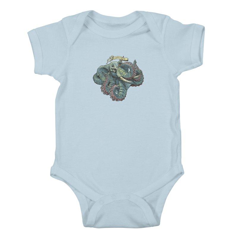 Metra Octophant  Kids Baby Bodysuit by Octophant's Artist Shop