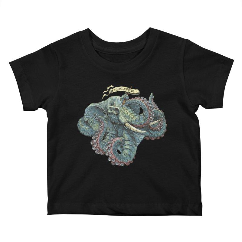 Metra Octophant  Kids Baby T-Shirt by Octophant's Artist Shop
