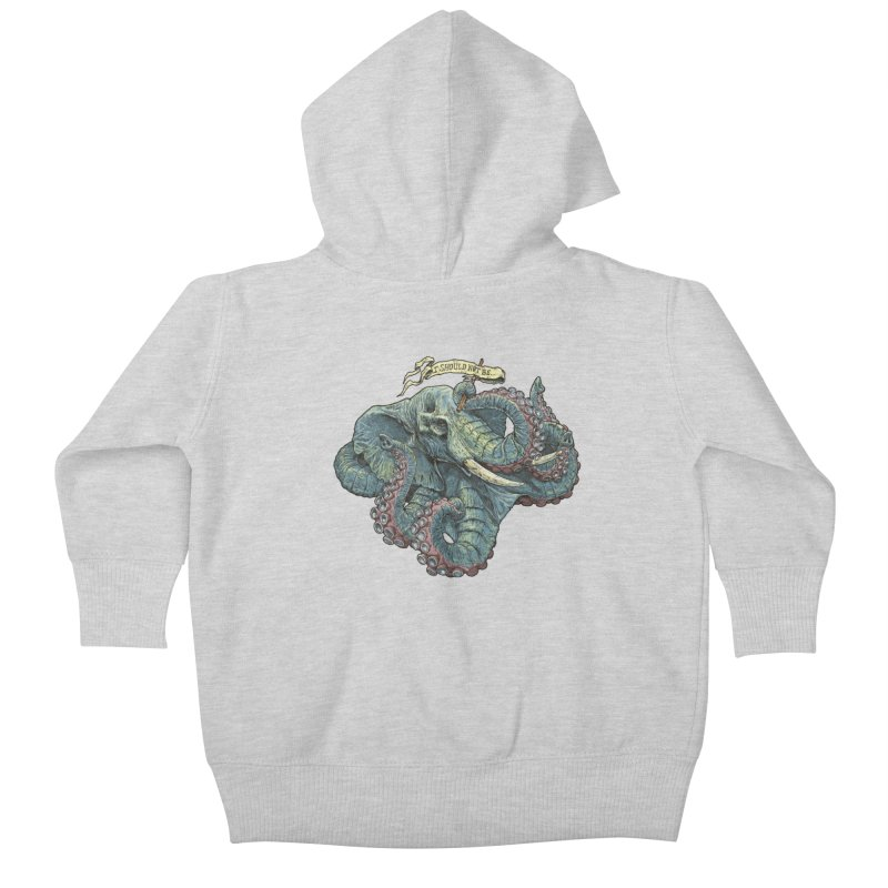 Metra Octophant  Kids Baby Zip-Up Hoody by Octophant's Artist Shop