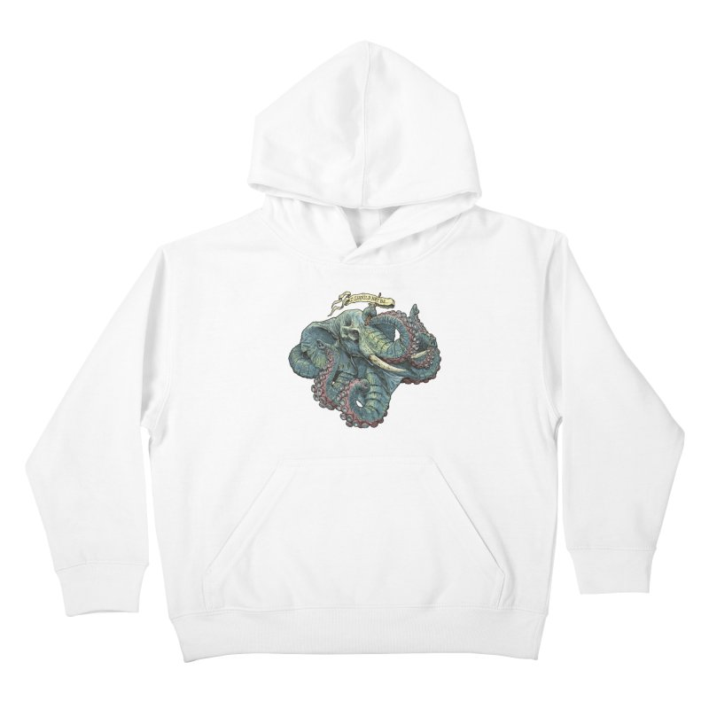 Metra Octophant  Kids Pullover Hoody by Octophant's Artist Shop