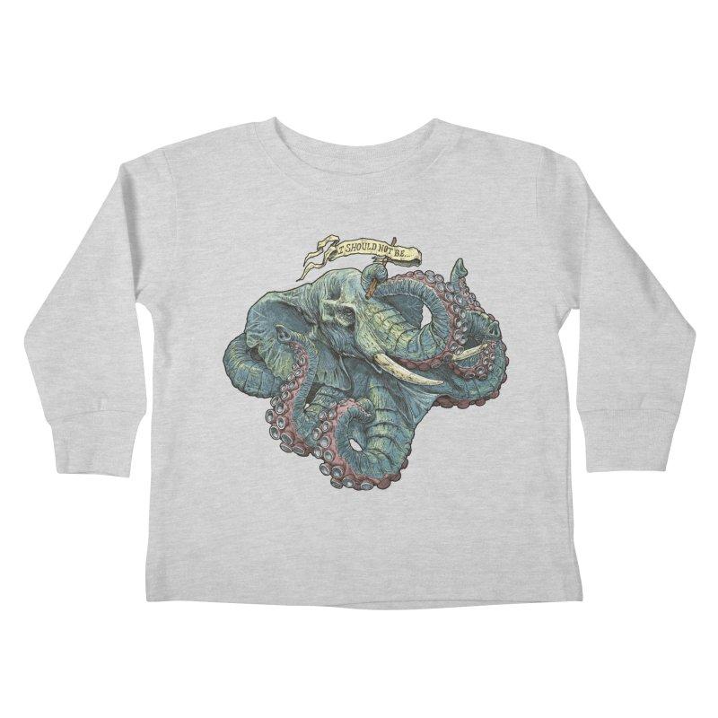 Metra Octophant  Kids Toddler Longsleeve T-Shirt by Octophant's Artist Shop