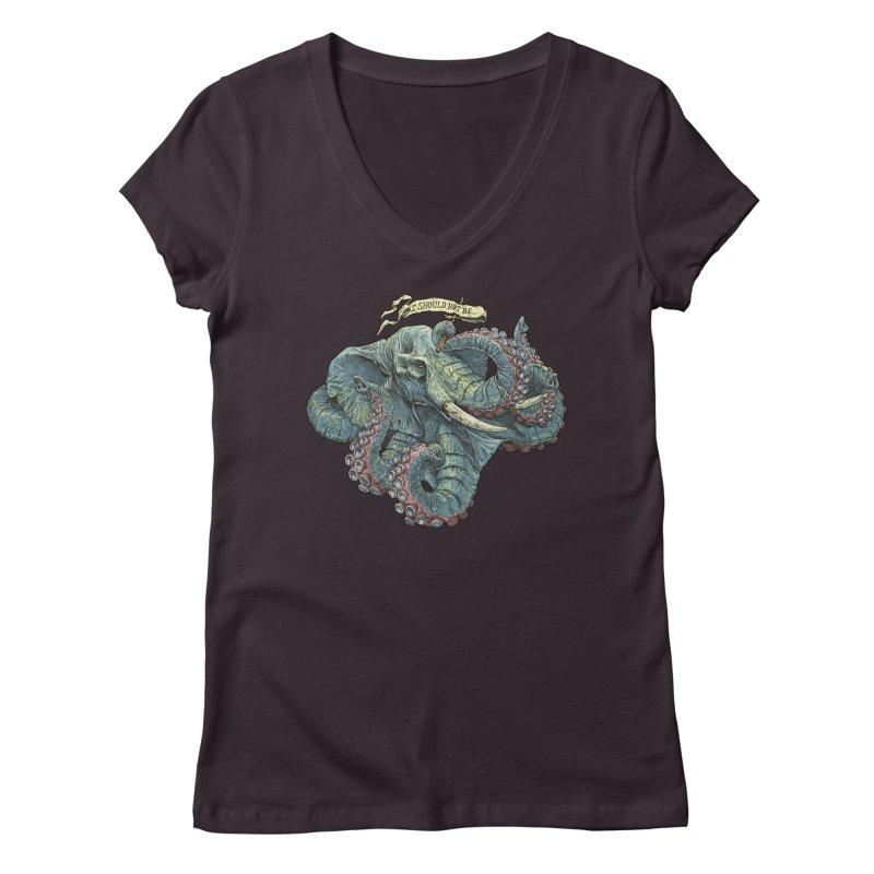 Metra Octophant  Women's V-Neck by Octophant's Artist Shop