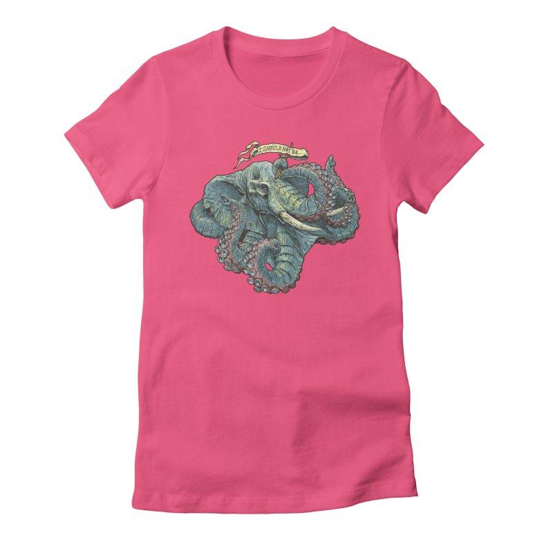 Metra Octophant  Women's Fitted T-Shirt by Octophant's Artist Shop