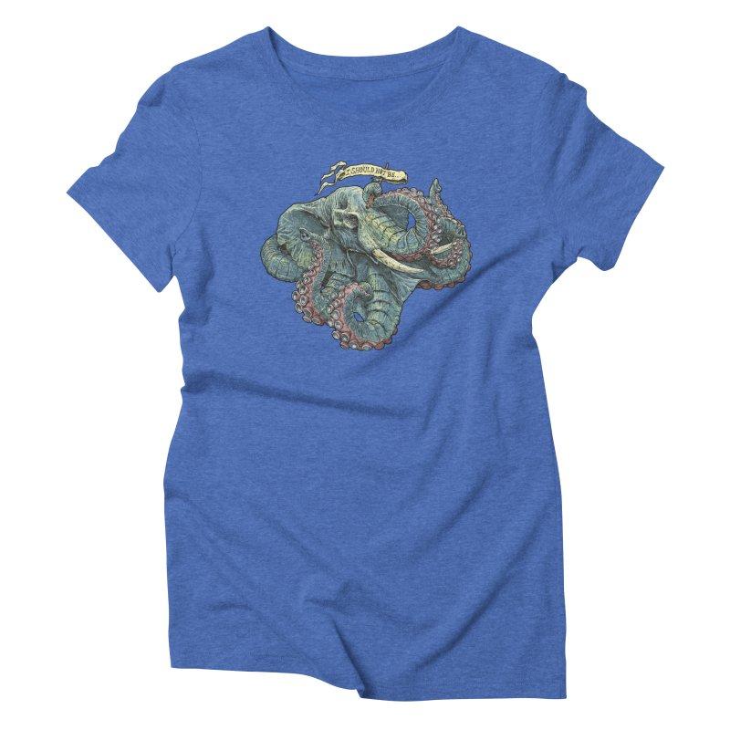 Metra Octophant  Women's Triblend T-shirt by Octophant's Artist Shop