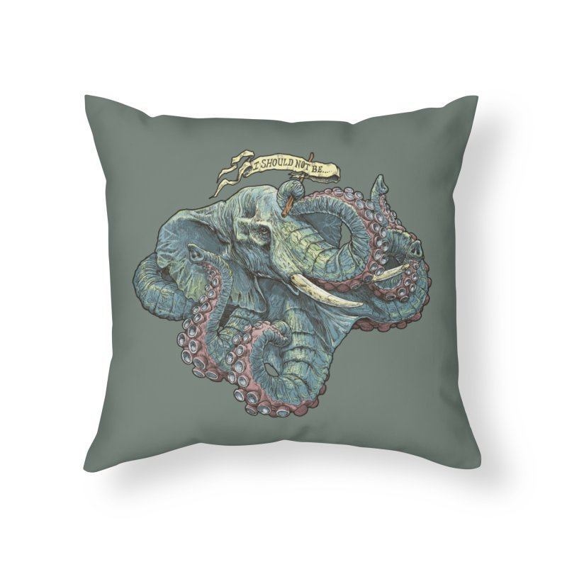 Metra Octophant  Home Throw Pillow by Octophant's Artist Shop
