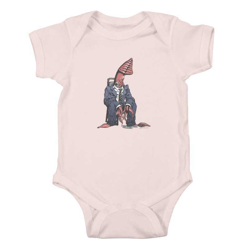 Squid Can't Win Kids Baby Bodysuit by Octophant's Artist Shop