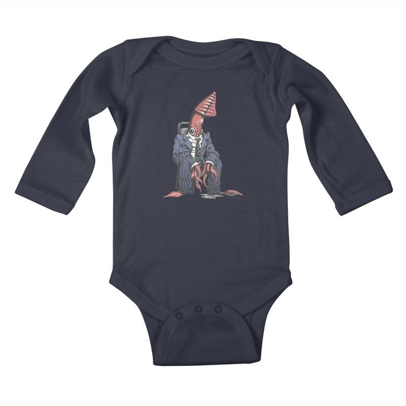 Squid Can't Win Kids Baby Longsleeve Bodysuit by Octophant's Artist Shop
