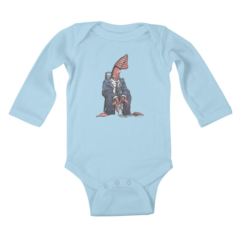 Squid Can't Win Kids Baby Longsleeve Bodysuit by Octophant's Artist Shop