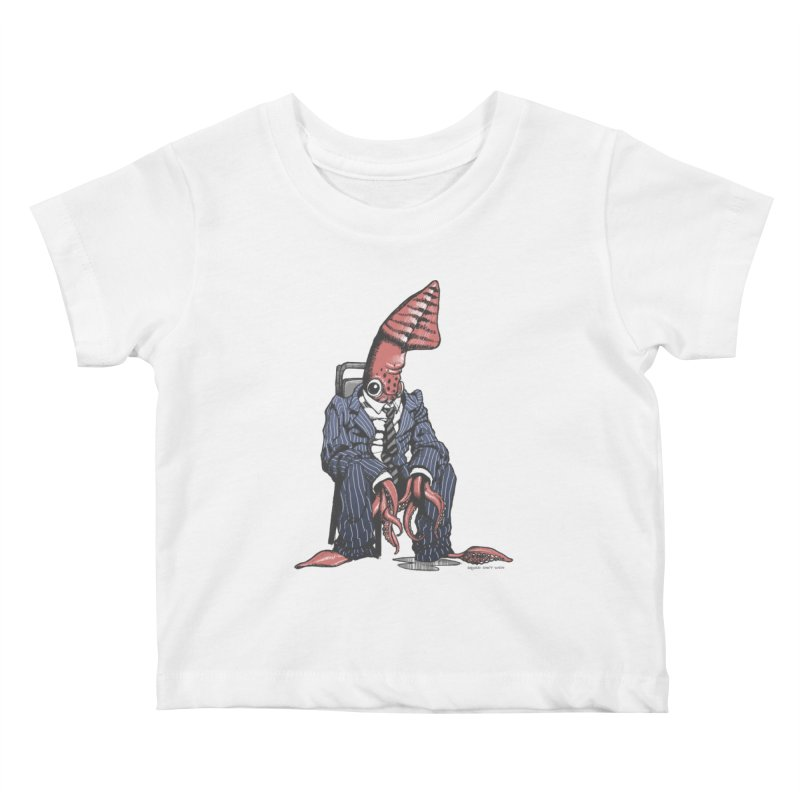 Squid Can't Win Kids Baby T-Shirt by Octophant's Artist Shop
