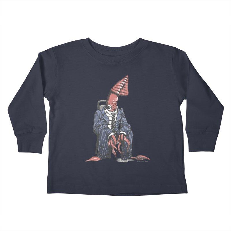 Squid Can't Win Kids Toddler Longsleeve T-Shirt by Octophant's Artist Shop