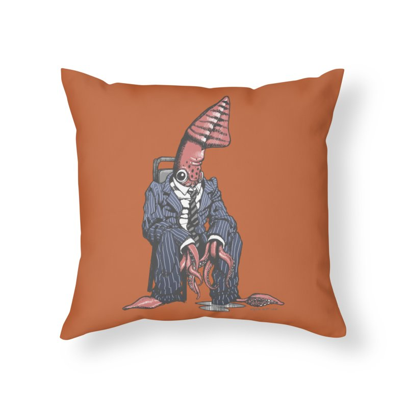 Squid Can't Win Home Throw Pillow by Octophant's Artist Shop