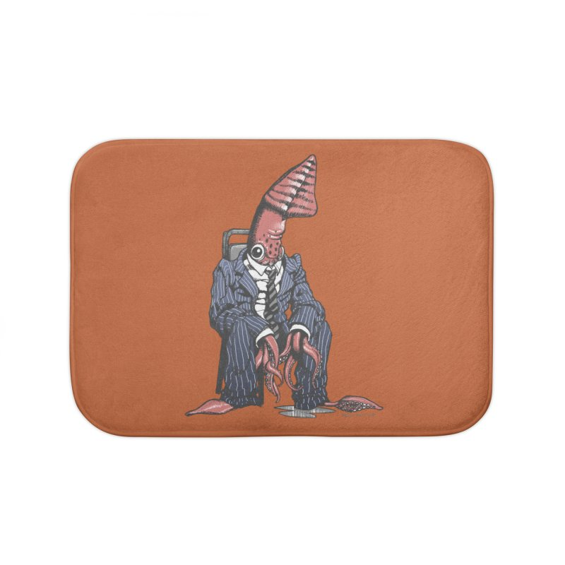 Squid Can't Win Home Bath Mat by Octophant's Artist Shop