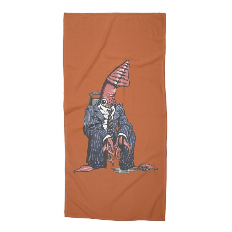Squid Can't Win Accessories Beach Towel by Octophant's Artist Shop