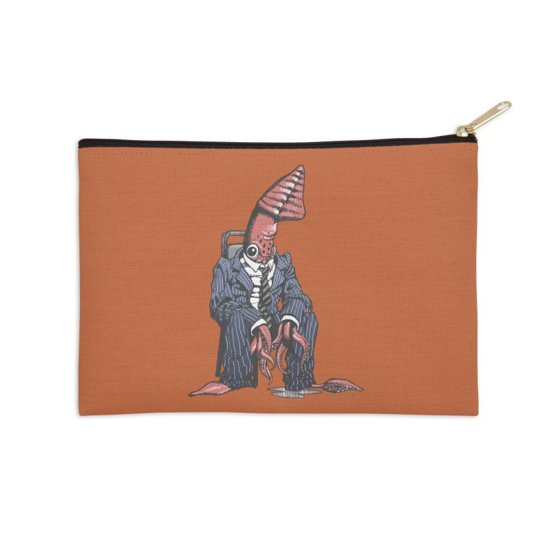 Squid Can't Win Accessories Zip Pouch by Octophant's Artist Shop
