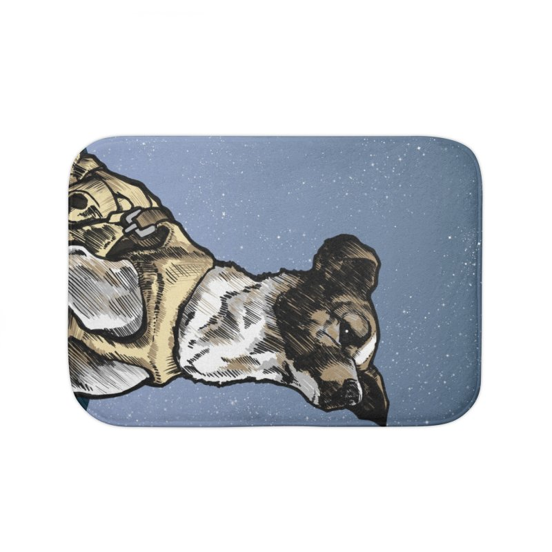 Laika Home Bath Mat by Octophant's Artist Shop