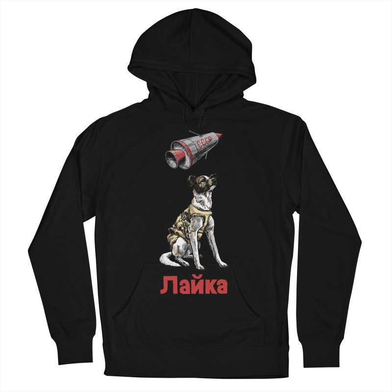 Laika Men's French Terry Pullover Hoody by Octophant's Artist Shop