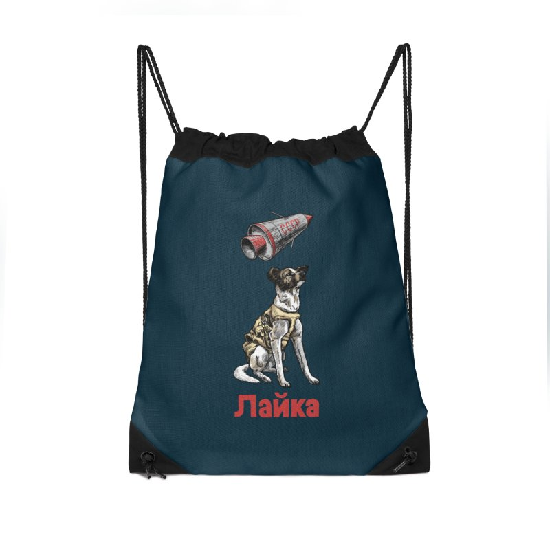 Laika Accessories Drawstring Bag Bag by Octophant's Artist Shop