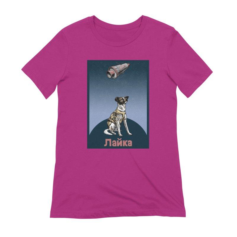 Laika Women's Extra Soft T-Shirt by Octophant's Artist Shop
