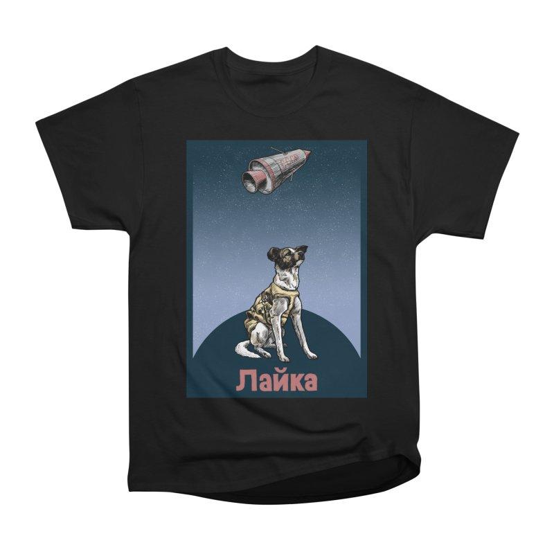 Laika Women's Heavyweight Unisex T-Shirt by Octophant's Artist Shop
