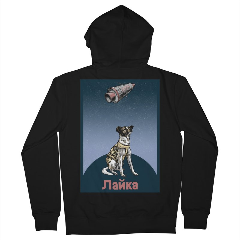 Laika Men's Zip-Up Hoody by Octophant's Artist Shop