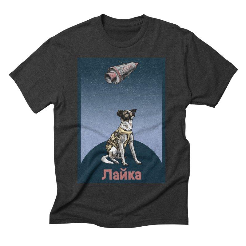 Laika Men's Triblend T-shirt by Octophant's Artist Shop