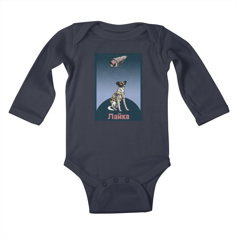 Laika Kids Baby Longsleeve Bodysuit by Octophant's Artist Shop