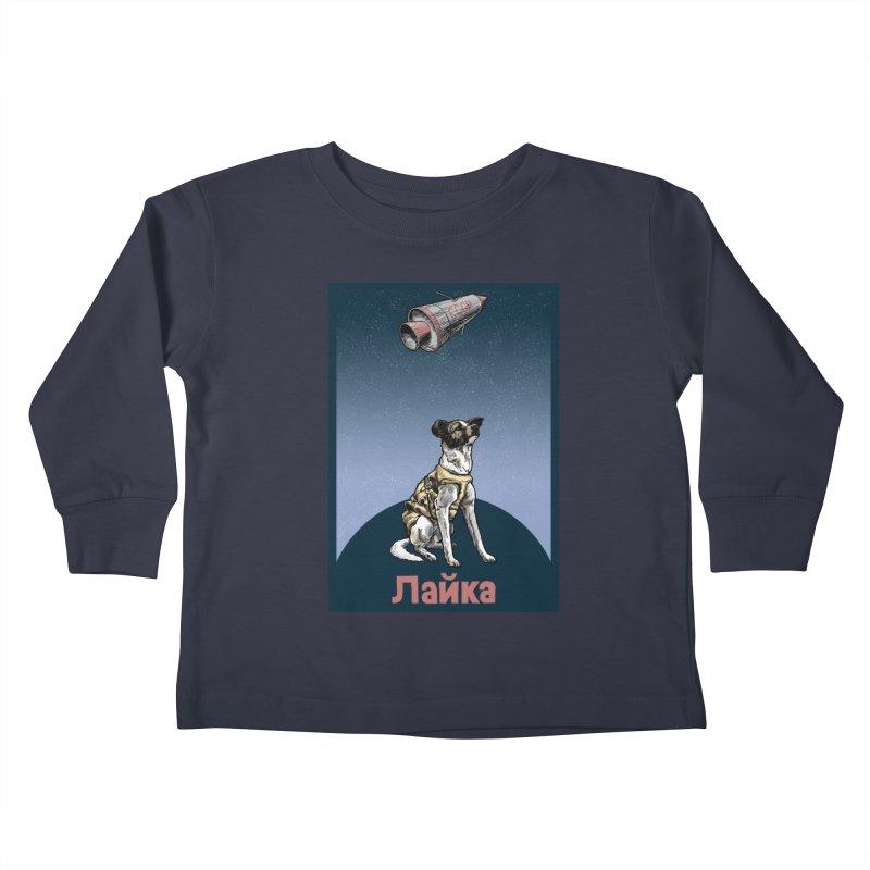 Laika Kids Toddler Longsleeve T-Shirt by Octophant's Artist Shop