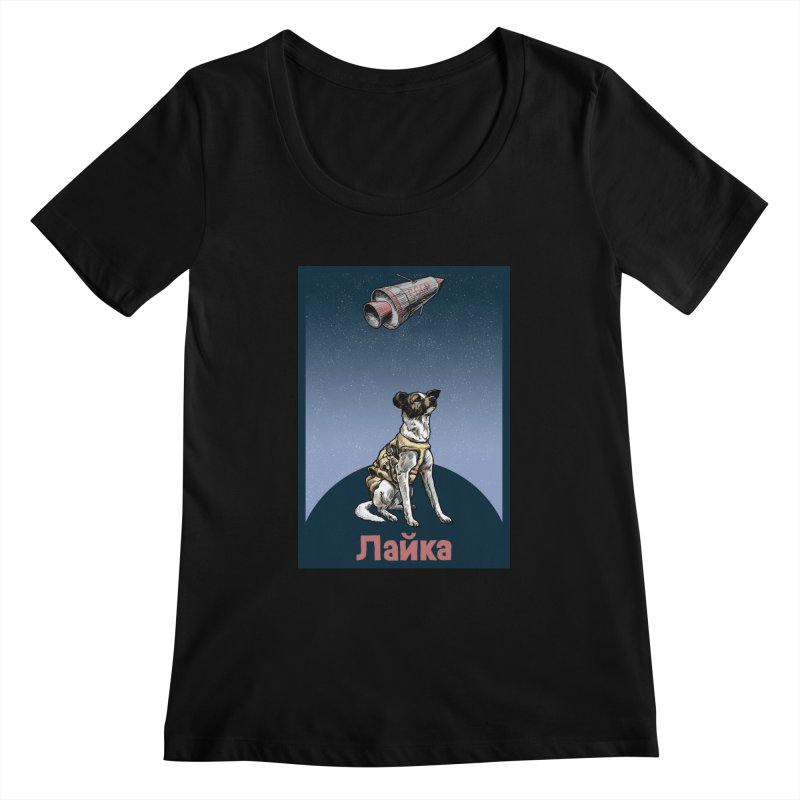 Laika Women's Scoopneck by Octophant's Artist Shop
