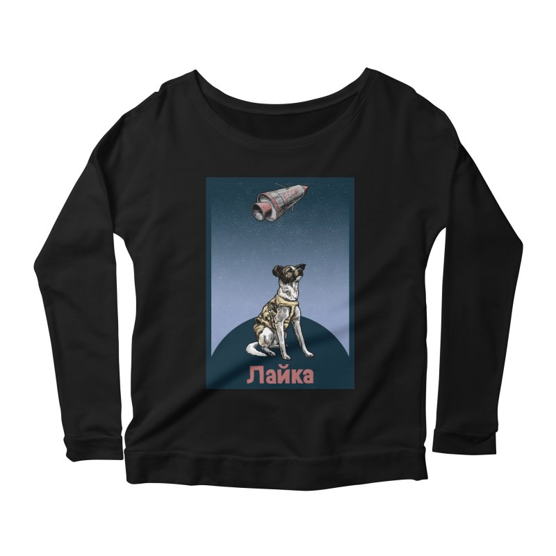 Laika Women's Longsleeve Scoopneck  by Octophant's Artist Shop