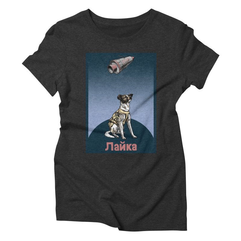 Laika Women's Triblend T-Shirt by Octophant's Artist Shop