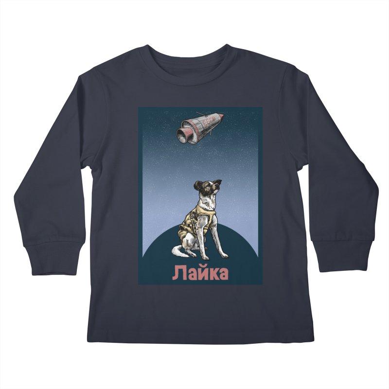 Laika Kids Longsleeve T-Shirt by Octophant's Artist Shop