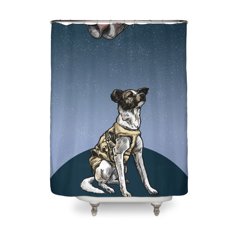 Laika Home Shower Curtain by Octophant's Artist Shop