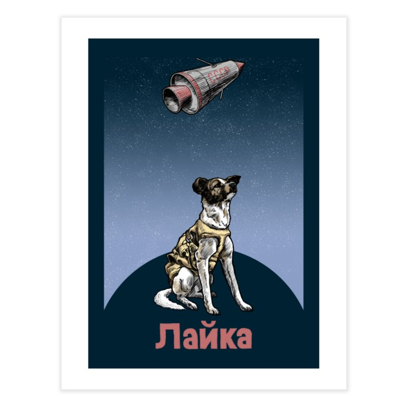 Laika Home Fine Art Print by Octophant's Artist Shop
