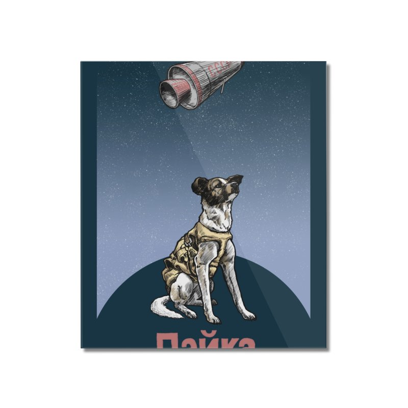 Laika Home Mounted Acrylic Print by Octophant's Artist Shop