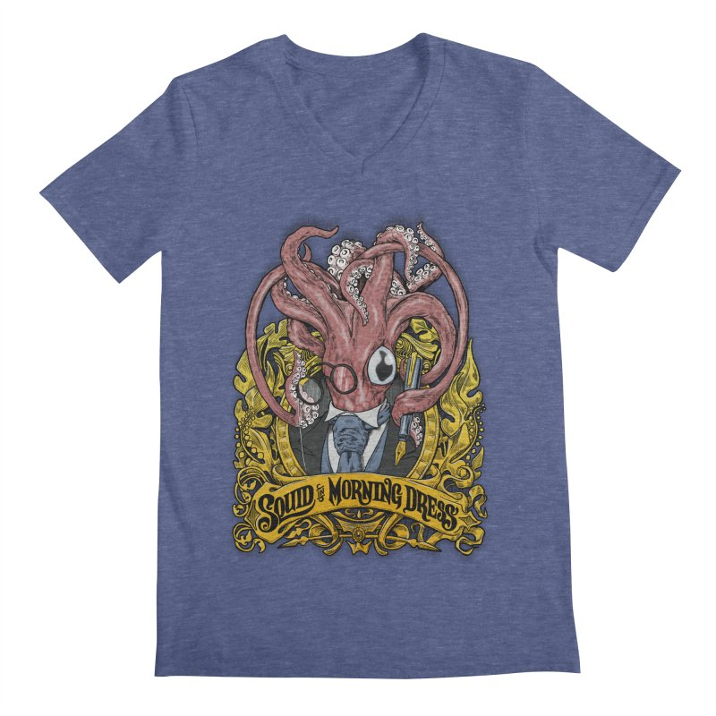 Squid in Morning Dress Men's V-Neck by Octophant's Artist Shop