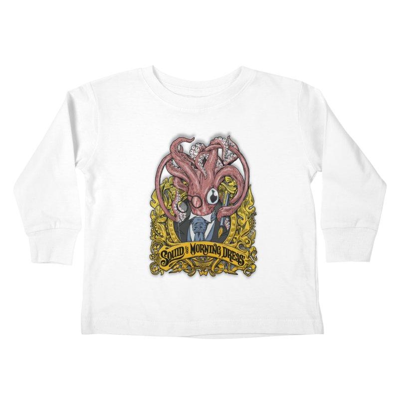 Squid in Morning Dress Kids Toddler Longsleeve T-Shirt by Octophant's Artist Shop