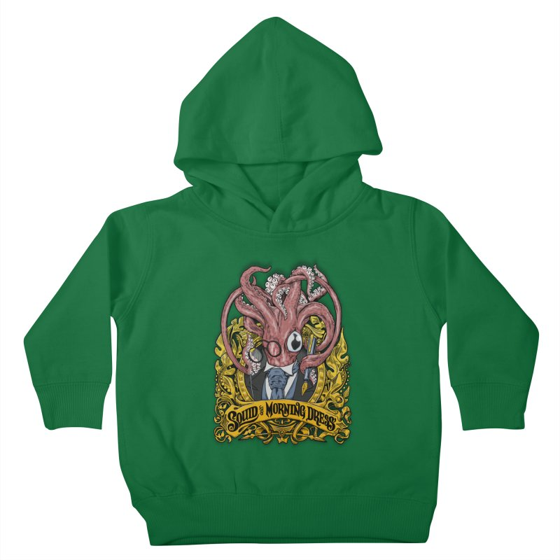 Squid in Morning Dress Kids Toddler Pullover Hoody by Octophant's Artist Shop