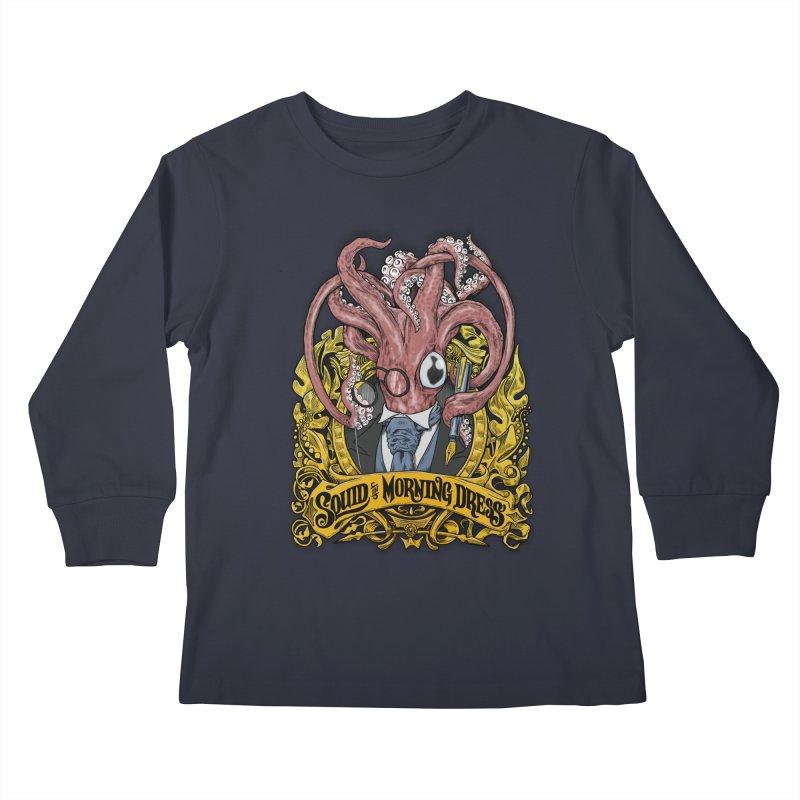 Squid in Morning Dress Kids Longsleeve T-Shirt by Octophant's Artist Shop