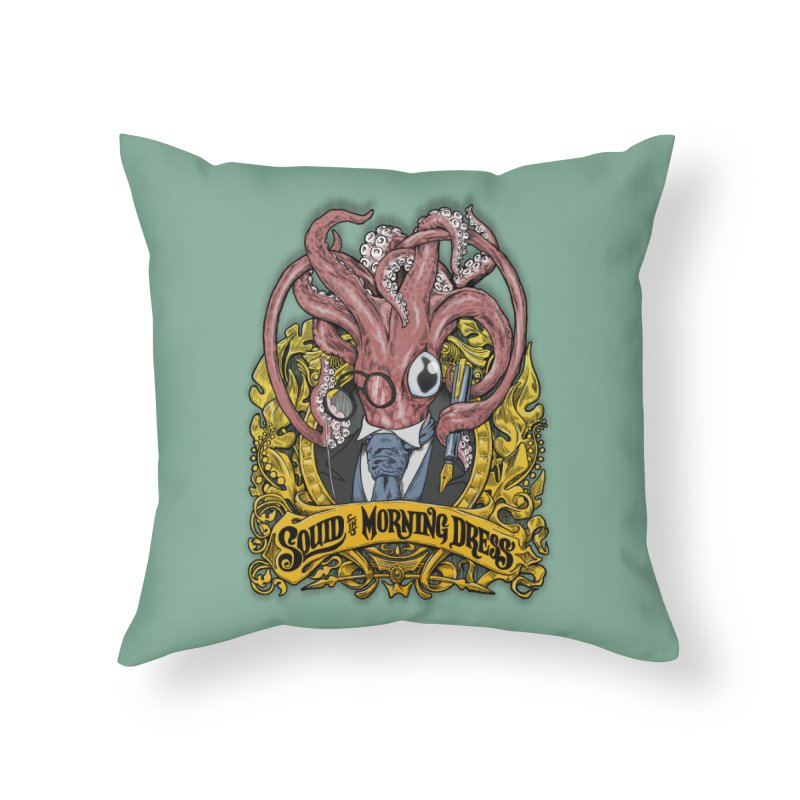 Squid in Morning Dress Home Throw Pillow by Octophant's Artist Shop