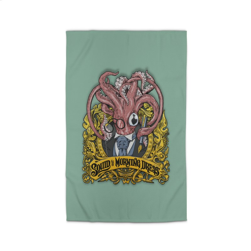 Squid in Morning Dress Home Rug by Octophant's Artist Shop