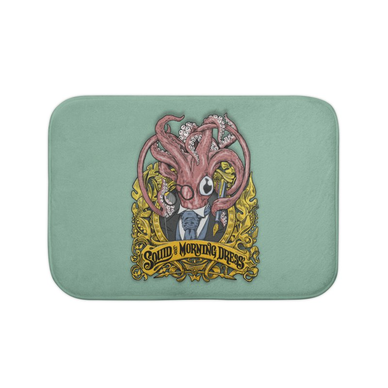 Squid in Morning Dress Home Bath Mat by Octophant's Artist Shop
