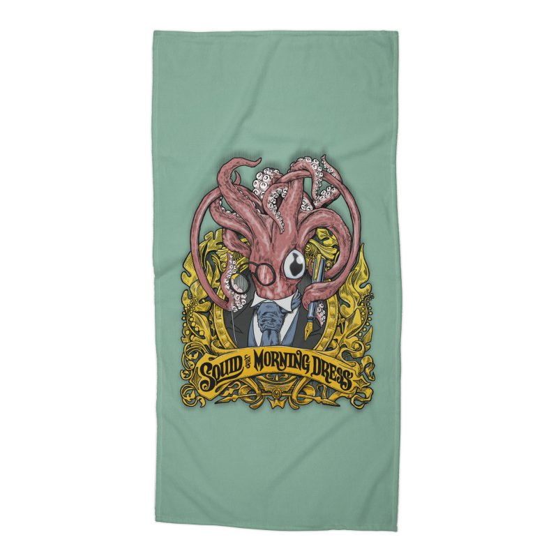 Squid in Morning Dress Accessories Beach Towel by Octophant's Artist Shop