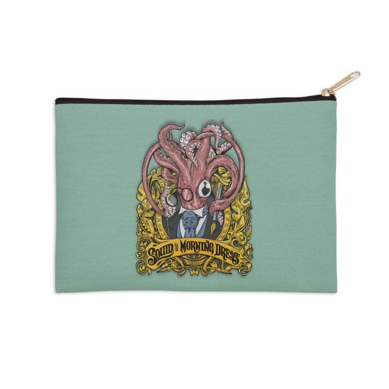 Squid in Morning Dress Accessories Zip Pouch by Octophant's Artist Shop