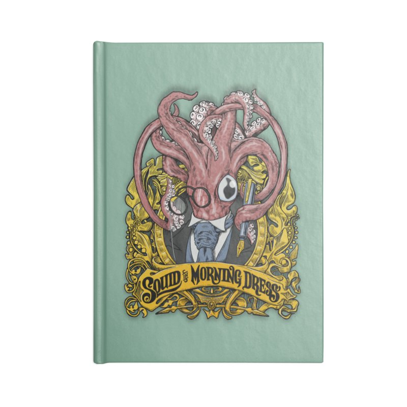 Squid in Morning Dress Accessories Notebook by Octophant's Artist Shop