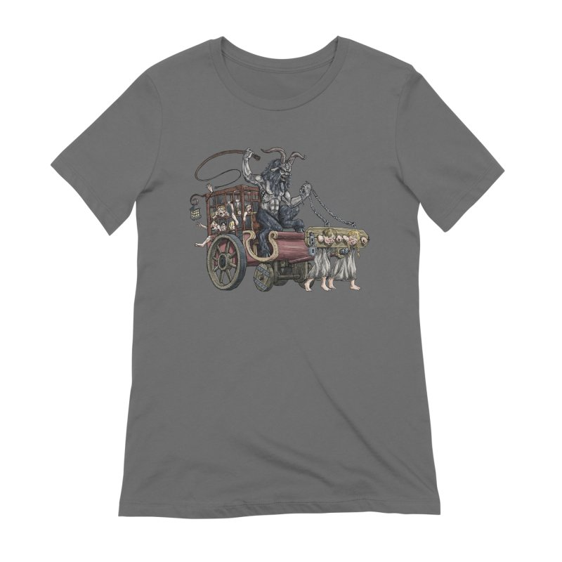 Krampus Wagon Women's Extra Soft T-Shirt by Octophant's Artist Shop