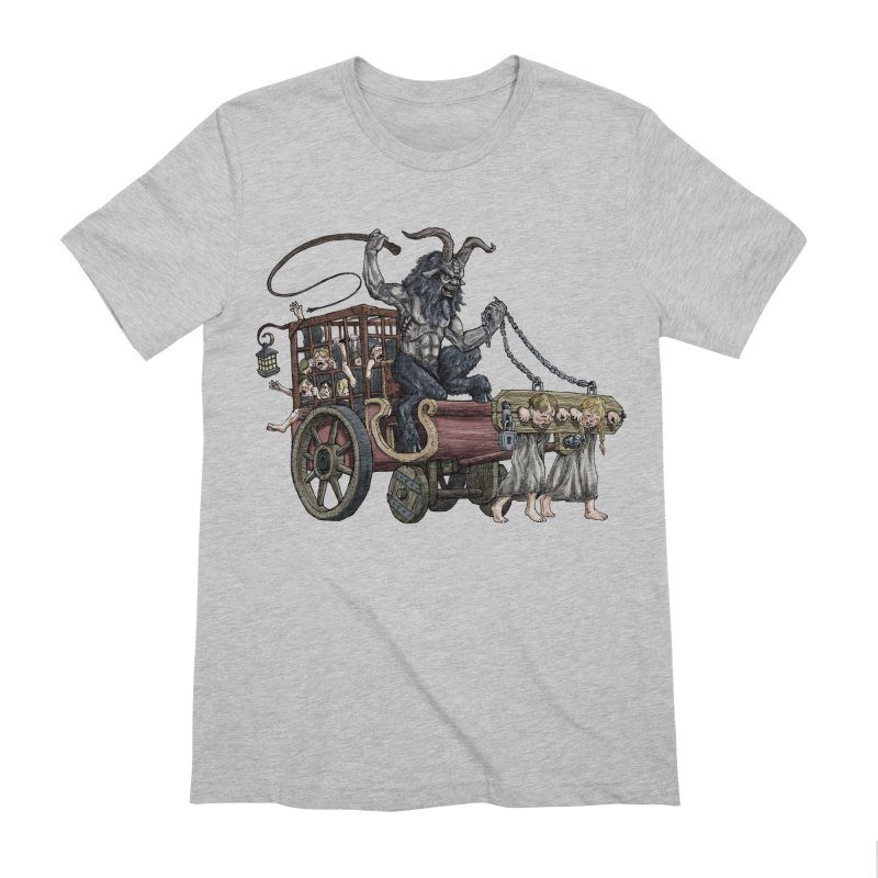 Krampus Wagon Men's Extra Soft T-Shirt by Octophant's Artist Shop