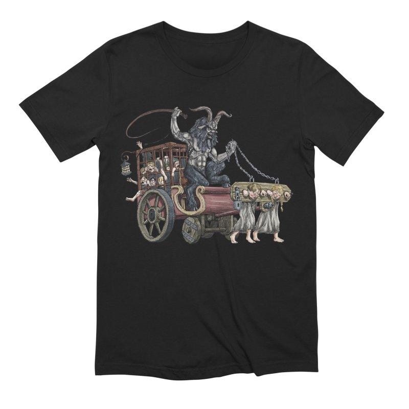Krampus Wagon Men's Extra Soft T-Shirt by Octophant's Artist Shop