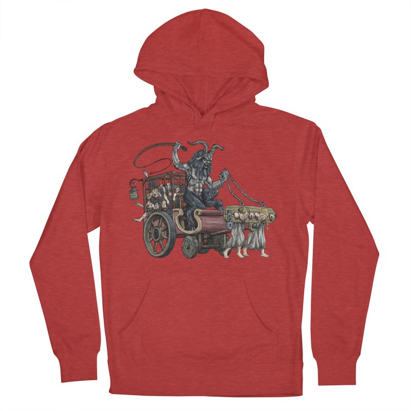 Krampus Wagon Women's French Terry Pullover Hoody by Octophant's Artist Shop