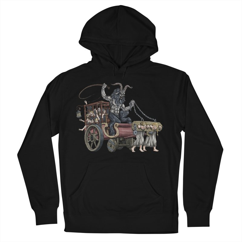 Krampus Wagon Men's French Terry Pullover Hoody by Octophant's Artist Shop